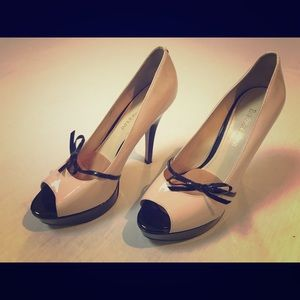 Savoye nude patent leather pumps